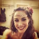 Patricia Delgado backstage in her Gypsy costume.